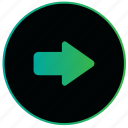 arrow, direction, move, navigation, pointer, right icon
