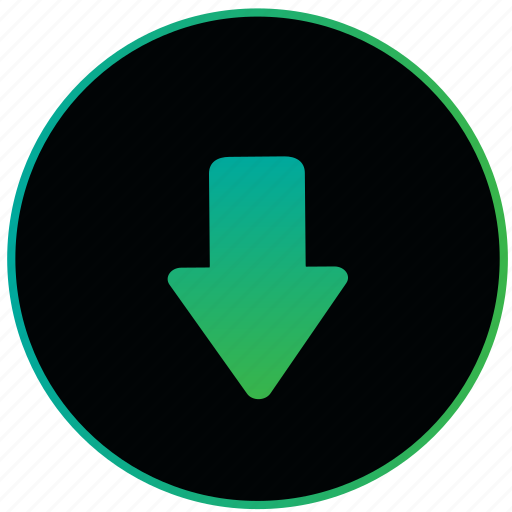 arrow, down, down arrow, move, navigation, pointer, ui icon