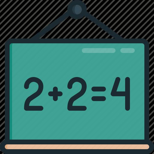 blackboard, chalkboard, learn, school icon