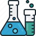 flask, lab, research, tube icon