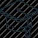 cap, mortarboard, scholar, student icon
