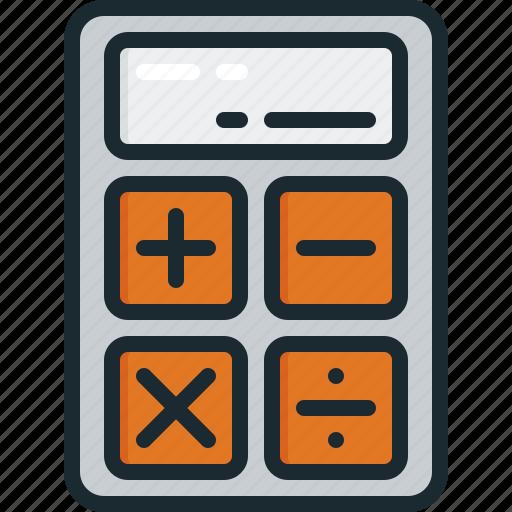 accounting, calculation, calculator, education, math icon