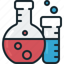 flask, laboratory, sample, tube icon