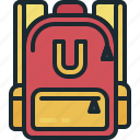 bag, education, learning, school icon