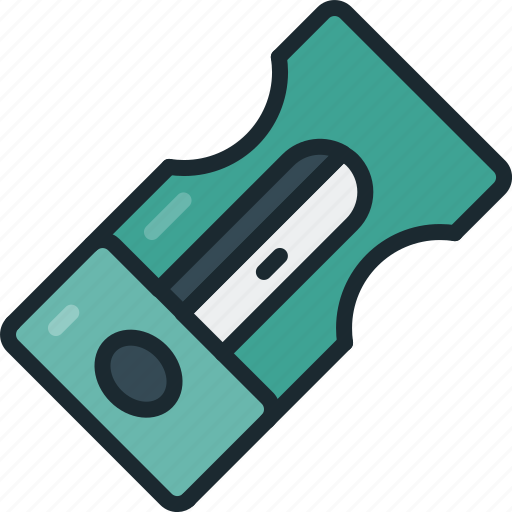 pencil, sharpener, tool icon