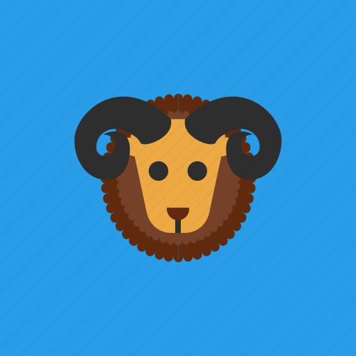 animal, aries, horoscope, zodiac icon