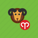 animal, aries, astrology, horoscope, zodiac icon