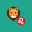 animal, astrology, horoscope, leo, lion, zodiac icon