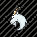 capricorn, capricorn icon, goat, zodiac sign icon