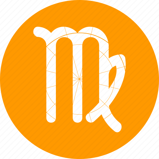 month, tarot, virgo, zodiac icon