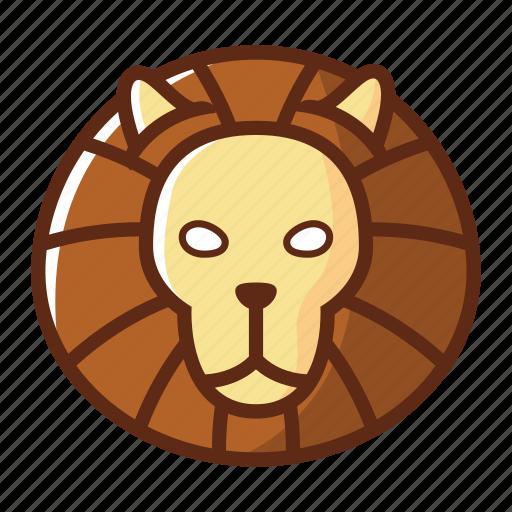 animal, head, leo, lion, wild, zodiac icon