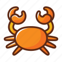 animal, cancer, crab, zodiac icon