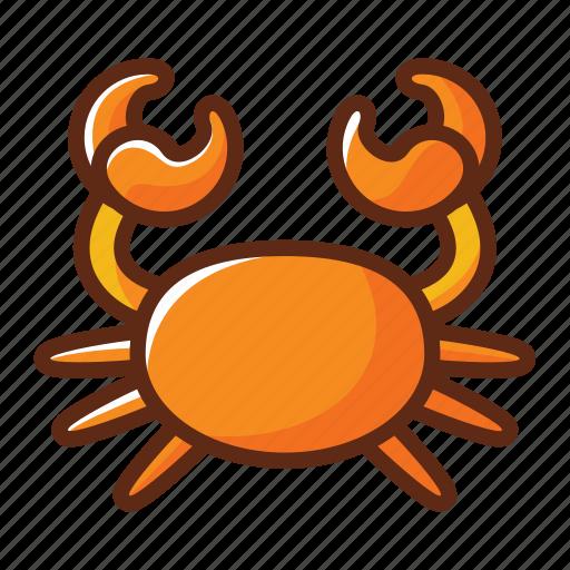 animal, cancer, crab, zodiac icon