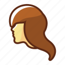 avatar, girl, hair, head, woman, zodiac icon