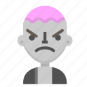 angry, avatar, death, emoji, halloween, horror, zombie icon
