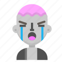 avatar, crying, death, emoji, halloween, horror, zombie icon