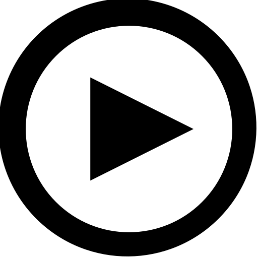 outline, play icon