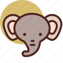 1, animal, elephant, farm, pet, ranch icon