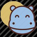 animal, farm, hippo, pet, ranch icon