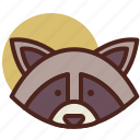 animal, farm, pet, racoon, ranch icon