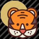 animal, farm, pet, ranch, tiger icon