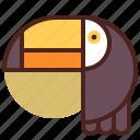 animal, farm, pet, ranch, tucan icon