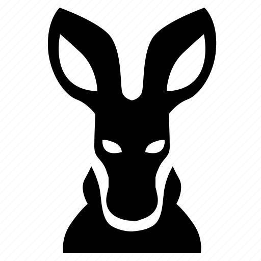 animal, face, head, kangaroo, man icon
