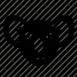 animal, avatar, bear, face, head, koala, zoo icon
