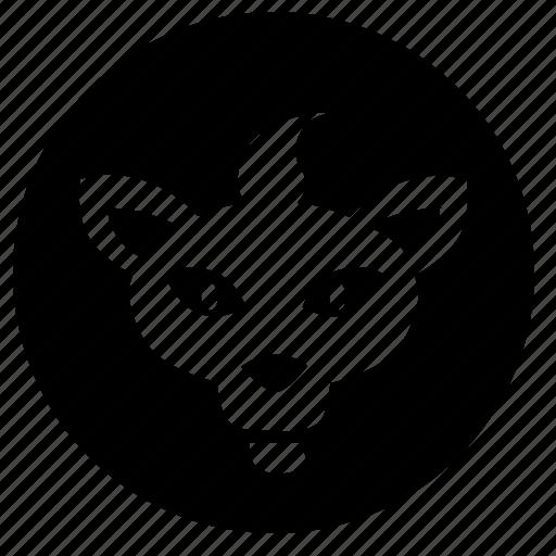 animal, avatar, face, head, round, tiger icon