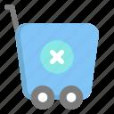 cancel, commerce, ecommerce, shop, shopping, trolley