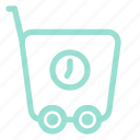 buy, ecommerce, shop, shopping, time, trolley icon