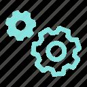 gears, process, run, settings