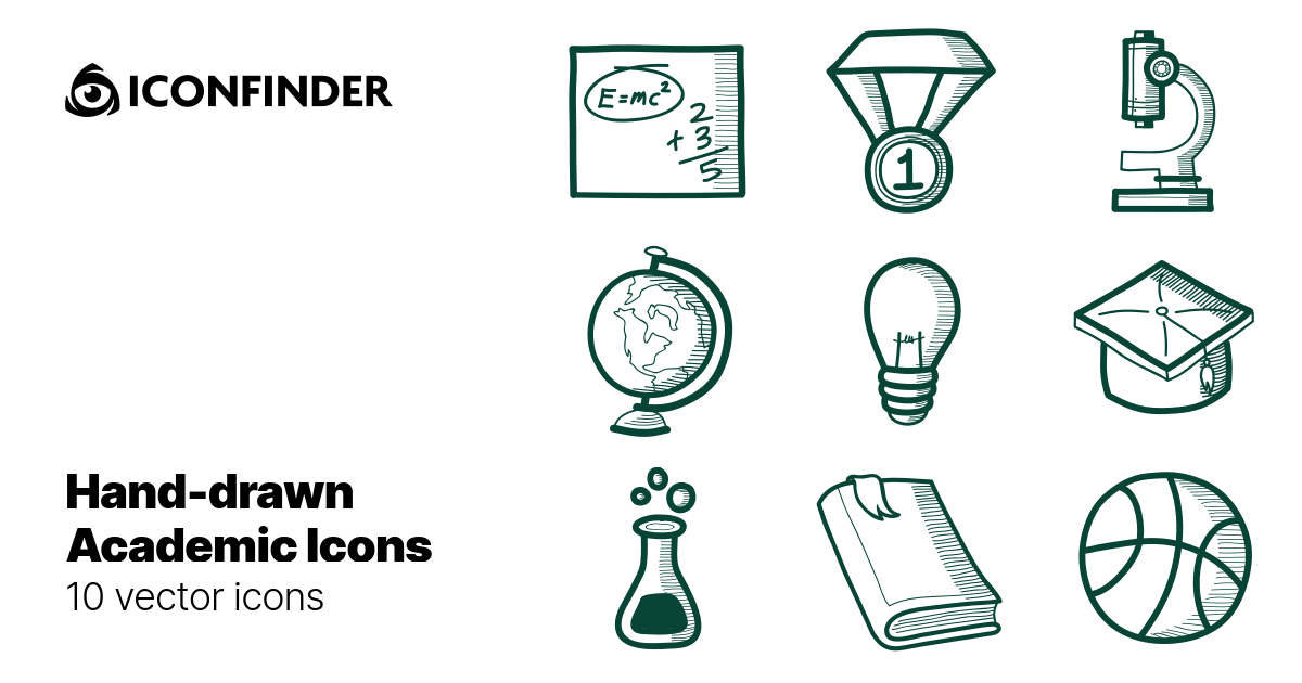 Hand-drawn Academic Icons - by YMB Properties