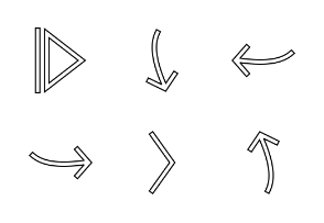 1 - Arrows line black