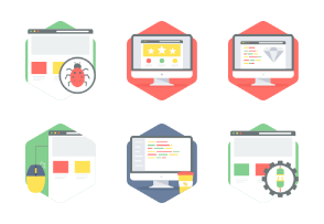 Hexagon Web Layout icons