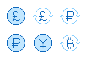 30px: Currency - Blue Line