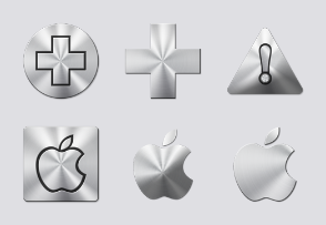 Brushed Metal Icons