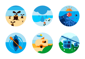 Activities Flat Icons