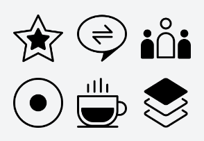 Ad Network Icon (Line with Fill) Set 4