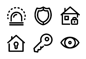 Alarm System - Thick True Line - Black-and-White