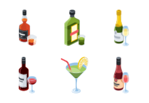 Alcohol Set Illustration