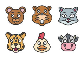 Animal Avatars - Soft Fill
