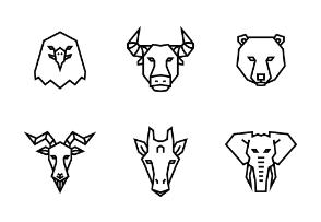 Animal Geometric Faces