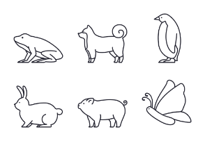 Animals outline