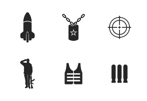 Army Weapons and Soldiers Glyph