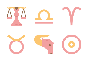 Astrological Signs Flat