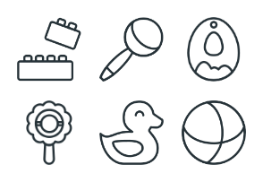 Baby - Stroke Icons