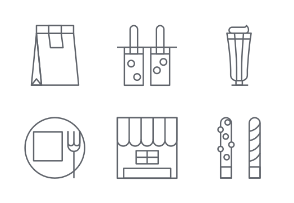 Bakery line icons set 5