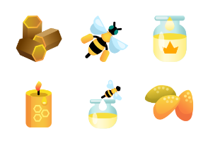 Beekeeping products in 3d style