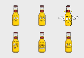 Beer Bottle Emoji Cartoons 2